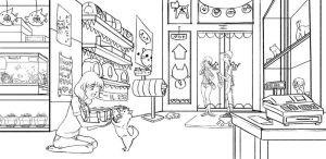 Day at the Pet Store - Line Art by SpeedyDumpling