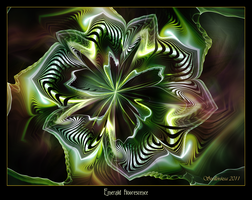 Emerald fluorescence by Szellorozsa