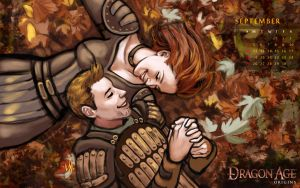Dragon Age Calendar: September by Amedyr