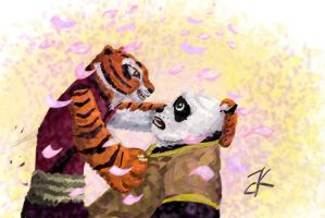 Po with Tigress by bk-kam