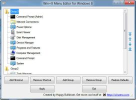 Win+X Menu Editor for Windows 8 by hb860