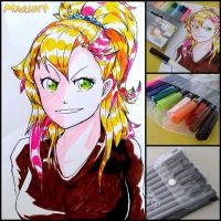 Traditional 3 - 8 bit/16 bit color girl by Marini4