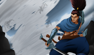 Yasuo fan splashart sketch part 3 by Mixglasses