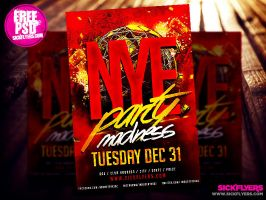 Free New Year's Eve Flyer Template PSD by Industrykidz