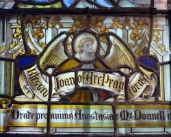 St Joan of Arc Stained Window, St Edmund's 1 by ggeudraco