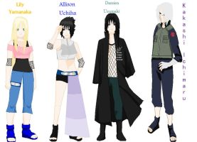 Allison Uchiha and Squad by Allison02Uchiha