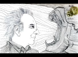 Alan Rickman VS Hipopotam. by VeIra-girl
