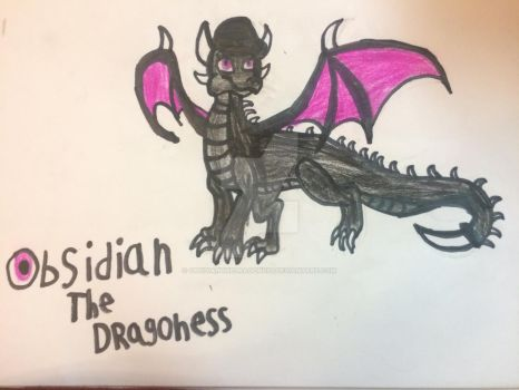 My first dragon! by ObsidianTheDragoness