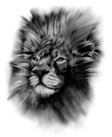 Tattoo Design | Lion by badfish1111