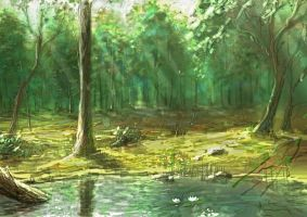 Forest Pond by Entar0178