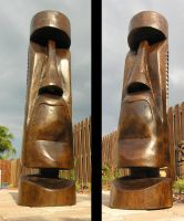 Finished Moai by tflounder
