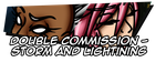 [Preview R34] X-men/FFXIII - Storm and Lightning by DankoDeadZone