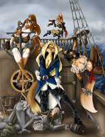 Good Pirates on Deck by AnthroPirateGallery