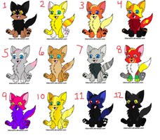 Low point cat adoptables (OPEN) by Cloverleafwishclan
