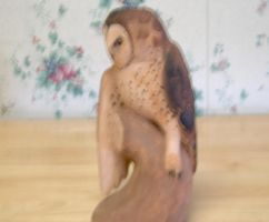 Owl carving side by turnipBerry