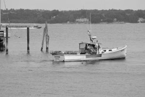 Crab Hunting Boat, Calm Ocean 4 by Miss-Tbones