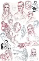 Sinestro and Arin Sketchdump 03 by fangirl-art