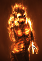 Erika, fire elemental by Kraden