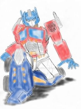 Optimus Prime Markers by Johncleric