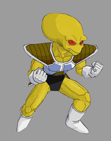 Yellow Frieza Soldier by RobertoVile