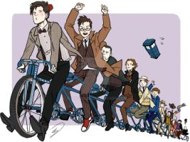 Eleven doctors on a bike by reapersun