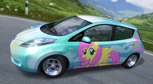 Fluttershy Nissan Leaf - Forza 4 by nrxia