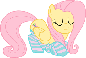 Fluttershy Realaxing in Socks by SLB94