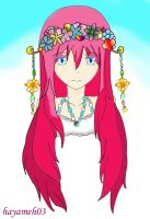 Crystal and Flower Crown by hayameh03
