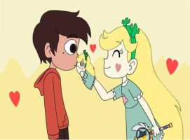 Star and Marco kissing? by Candigato