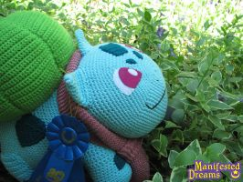 Bulbasaur Amigurumi - Super Big! by ManifestedDreams