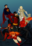 The New young justice again by HellyKitten