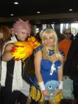 Natsu and Lucy in fire by claudia1542