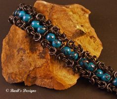 Black Stainless Steel Bracelet by Barbsdesigns