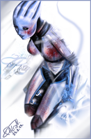 Liara T' Soni by FalconSketcher