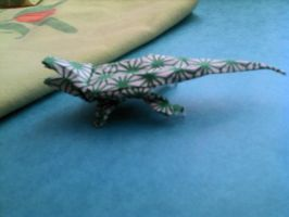 crocodile origami by Kaorikiki