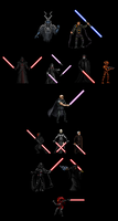 Canon Sith Collection (Custom Sprites) by Aeruhl