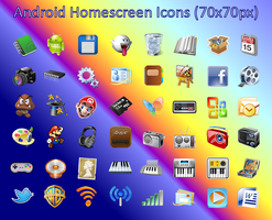 Android Homescreen Icons by cmnixon