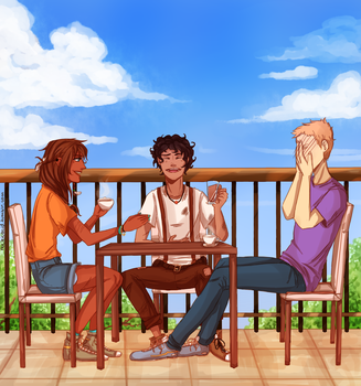 AT THE CAFE by itsnucleicacid