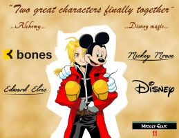 Edward Elric and Mickey Mouse: Two Great Character by mickeyelric11