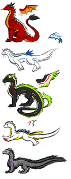 A Doodling of Dragons by AngelicDragonPuppy