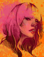 Orangey girl by DoOp