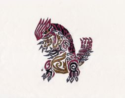 Groudon Tribal Tattoo by Skrayle