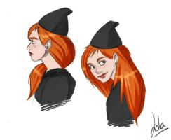 HP: Ginny Sketches 02 by Loleia