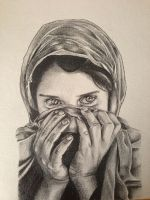 Portrait Sharbat Gula by Kimimar013