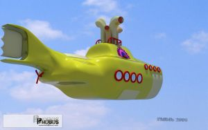 3D Yellow submarine by phobos3d