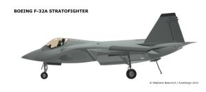 Boeing F-32A profile by Bispro