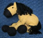 Knit Pony Plushie by NocturnalEquine