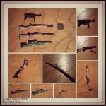 Miniature Paper Rifles(And Machine Pistol) by tdub123
