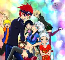 Our big friendly family 8D by WiDDlzZ