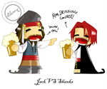 Jack Sparrow Vs. Red Shanks by lycanlauren